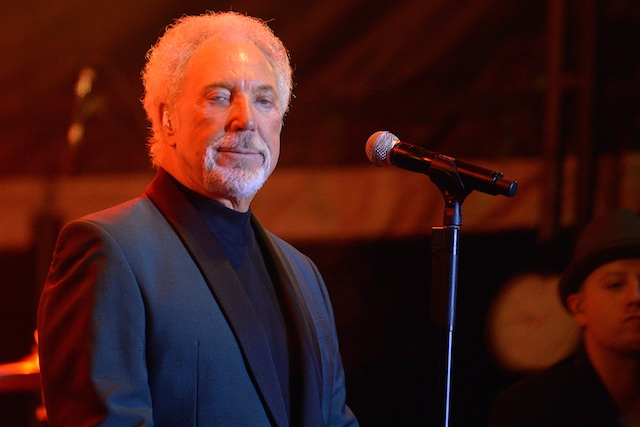 IT'S NOT UNUSUAL FOR TOM JONES AT THE BAND STAND